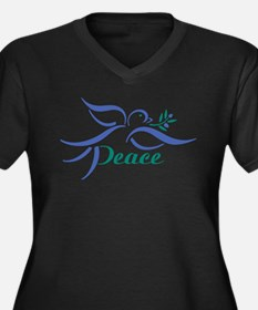 Dove Peace Plus Size T-Shirt