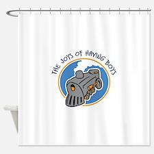 JOYS OF BOYS Shower Curtain