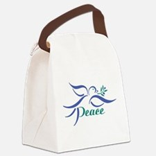Dove Peace Canvas Lunch Bag
