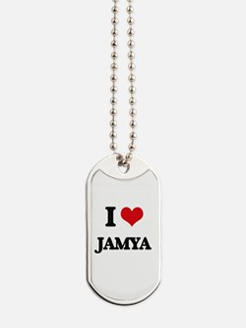 I Love Jamya Dog Tags