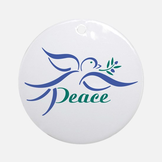 Dove Peace Ornament (Round)