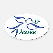 Dove Peace Oval Car Magnet