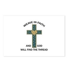 WEAVE IN FAITH Postcards (Package of 8)