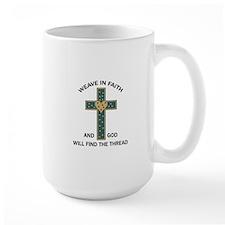 WEAVE IN FAITH Mugs