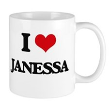 I Love Janessa Mugs