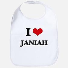 I Love Janiah Bib