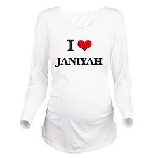 I Love Janiyah Long Sleeve Maternity T-Shirt