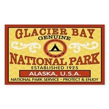 Glacier Bay National Park Rectangle Decal