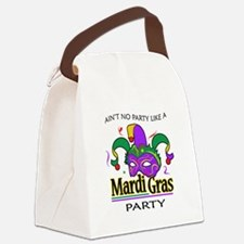 NO PARTY LIKE MARDI GRAS Canvas Lunch Bag