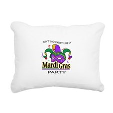 NO PARTY LIKE MARDI GRAS Rectangular Canvas Pillow