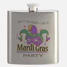 NO PARTY LIKE MARDI GRAS Flask