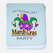 NO PARTY LIKE MARDI GRAS baby blanket