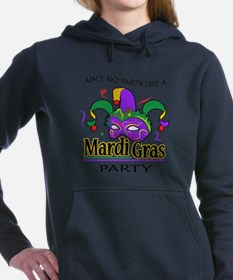 NO PARTY LIKE MARDI GRAS Women's Hooded Sweatshirt