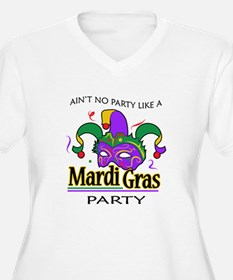 NO PARTY LIKE MARDI GRAS Plus Size T-Shirt