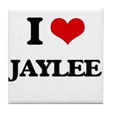 I Love Jaylee Tile Coaster