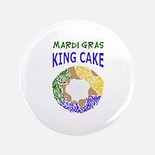"""MARDI GRAS KING CAKE 3.5"""" Button"""