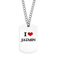 I Love Jazmin Dog Tags