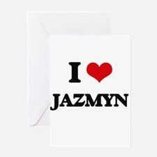 I Love Jazmyn Greeting Cards