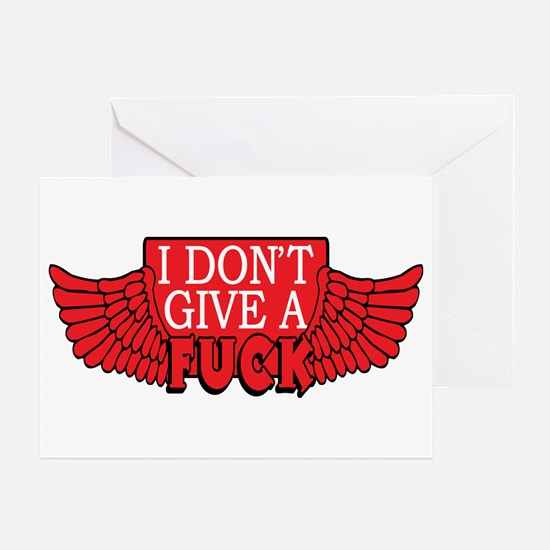 Flying Fuck Greeting Cards