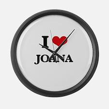 I Love Joana Large Wall Clock