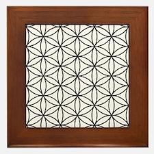 Flower Of Life Ptn Bw Framed Tile