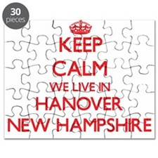 Keep calm we live in Hanover New Hampshire Puzzle