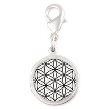 Flower of Life Ptn BW Charms
