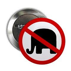 No GOP Elephant Button (100 pack)