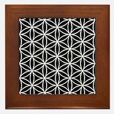 Flower Of Life Lg Ptn Wb Framed Tile