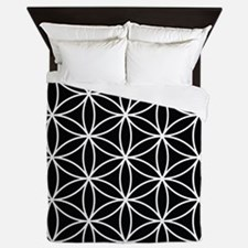 Flower of Life Lg Ptn WB Queen Duvet
