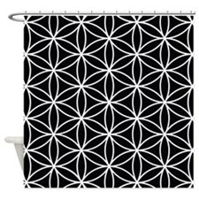 Flower of Life Lg Ptn WB Shower Curtain