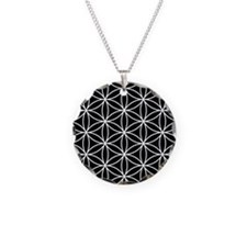 Flower of Life Lg Ptn WB Necklace Circle Charm