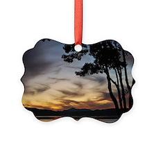 Ominous Sunset Ornament