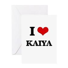 I Love Kaiya Greeting Cards