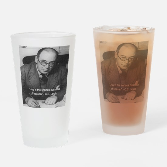 CS Lewis On Joy Drinking Glass