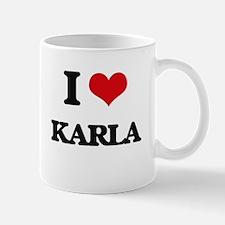I Love Karla Mugs