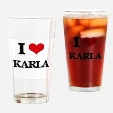 I Love Karla Drinking Glass