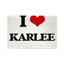 I Love Karlee Magnets