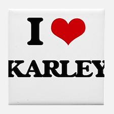 I Love Karley Tile Coaster