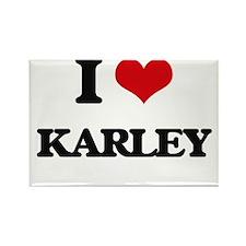 I Love Karley Magnets