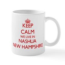 Keep calm we live in Nashua New Hampshire Mugs