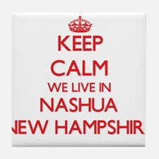 Keep calm we live in Nashua New Hamps Tile Coaster