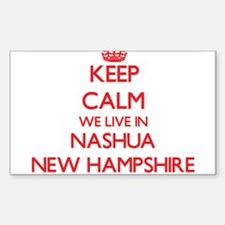 Keep calm we live in Nashua New Hampshire Decal