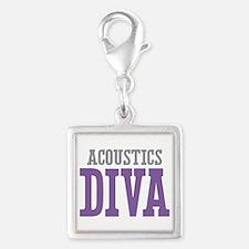 Acoustics DIVA Silver Square Charm