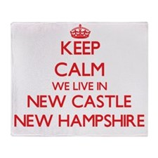 Keep calm we live in New Castle New Throw Blanket