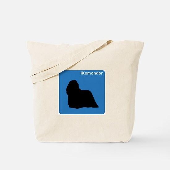 Komondor (clean blue) Tote Bag
