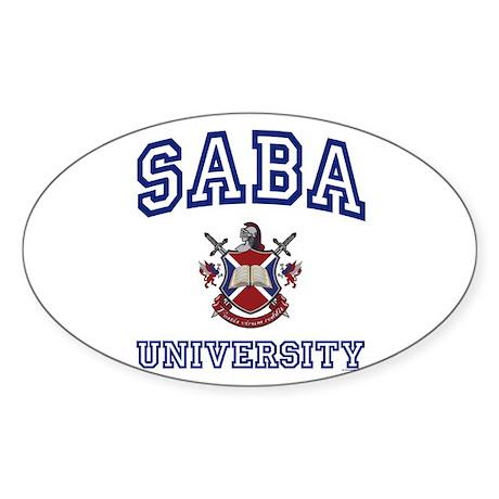 SABA University Oval Sticker