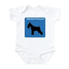 Standard Schnauzer (clean blu Infant Bodysuit