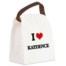 I Love Kaydence Canvas Lunch Bag
