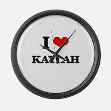 I Love Kaylah Large Wall Clock